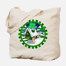 Country Yorkie Christmas Tote Bag