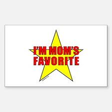 I'M MOM'S FAVORITE Rectangle Sticker 50 pk)