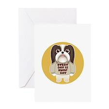 HUMP DAY Shih Tzu Greeting Card