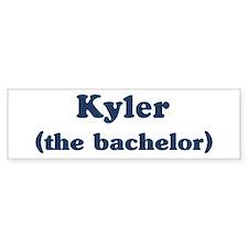 Kyler the bachelor Bumper Bumper Sticker