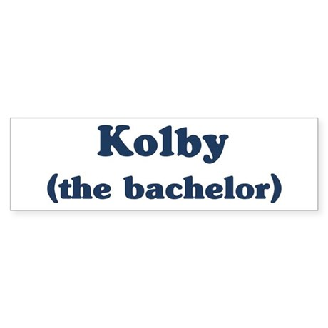 Kolby the bachelor Bumper Sticker