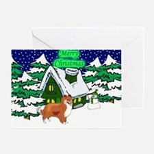 Country Sheltie Christmas Greeting Card