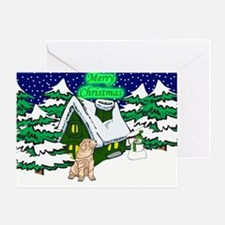 Country Shar-Pei Christmas Greeting Card