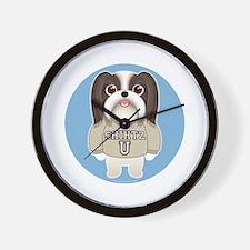 SHIH TZU TOO! Boy Dog Wall Clock