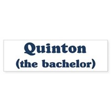 Quinton the bachelor Bumper Bumper Sticker