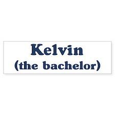 Kelvin the bachelor Bumper Bumper Sticker