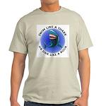 Swim Like a Shark or Sink Lik Ash Grey T-Shirt