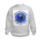 Swim Like a Shark or Sink Lik Kids Sweatshirt