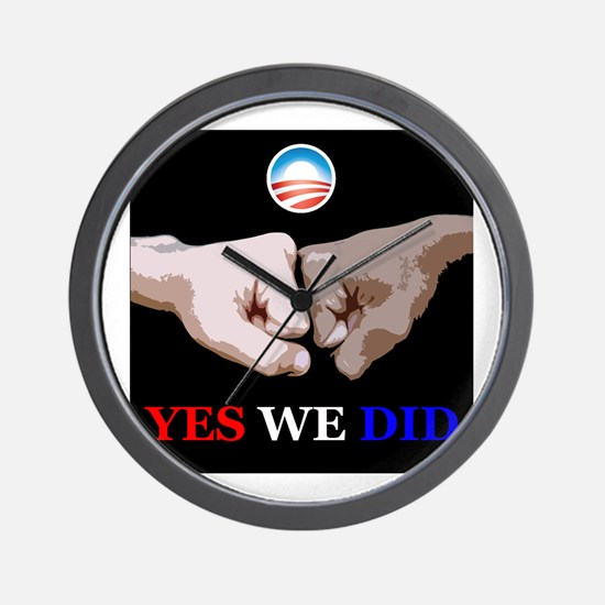 Yes We Did FistBump Wall Clock