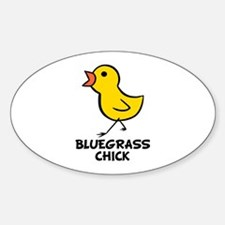 Bluegrass Chick Oval Decal