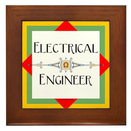 Electrical Engineer Line Framed Tile