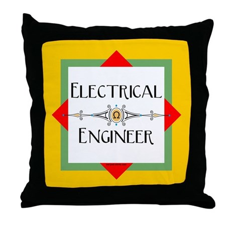 Electrical Engineer Line Throw Pillow