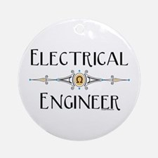 Electrical Engineer Line Ornament (Round)
