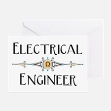 Electrical Engineer Line Greeting Card