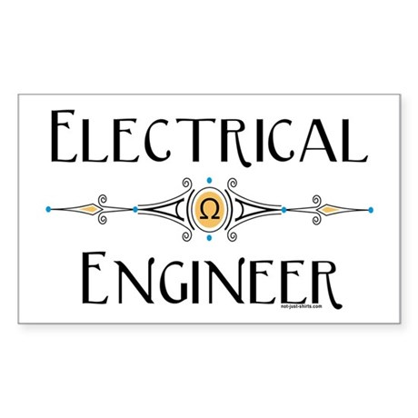 Electrical Engineer Line Rectangle Sticker