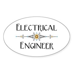 Electrical Engineer Line Oval Sticker (10 pk)