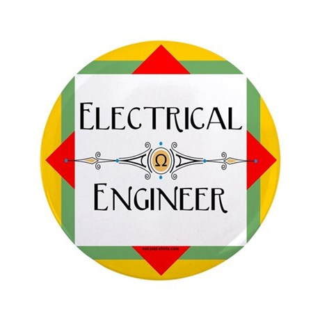 """Electrical Engineer Line 3.5"""" Button"""
