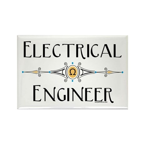 Electrical Engineer Line Rectangle Magnet