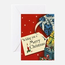 Vintage Ribbon and Gift Christmas Cards (Pk of 10)