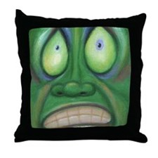 Cute Feeling distressed Throw Pillow