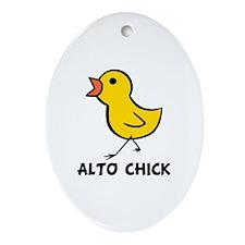 Alto Chick Oval Ornament