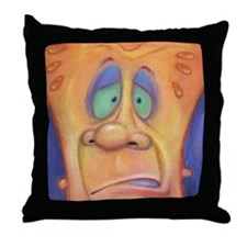 Unique Feeling distressed Throw Pillow