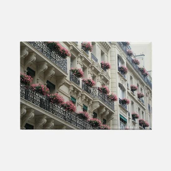 Paris Flowers Rectangle Magnet