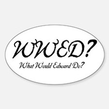 Twilight - WWED? Oval Decal