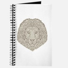 Lion Big Cat Head Mane Drawing Journal