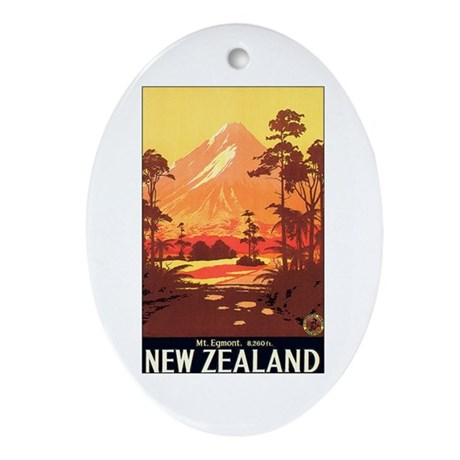 40th Wedding Anniversary Gifts New Zealand : New Zealand Keepsake (Oval) by w2arts