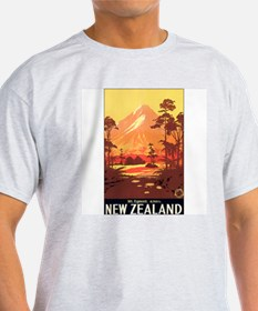New Zealand (Front) Ash Grey T-Shirt
