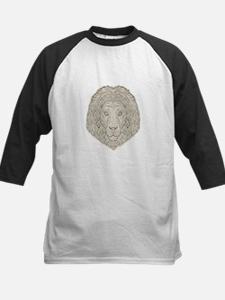 Lion Big Cat Head Mane Drawing Baseball Jersey
