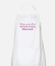 Cute Mother of the Bride BBQ Apron