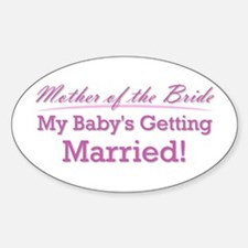 Cute Mother of the Bride Oval Decal