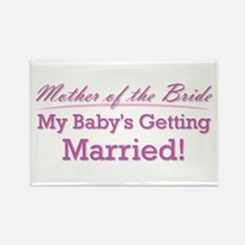 Cute Mother of the Bride Rectangle Magnet