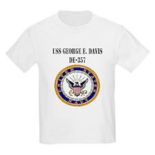 USS GEORGE E. DAVIS Kids T-Shirt