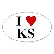 Kansas (KS) Oval Decal