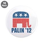 """Sarah Palin 2012 3.5"""" Button (10 pack)"""
