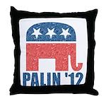 Sarah Palin 2012 Throw Pillow