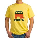 Sarah Palin 2012 Yellow T-Shirt