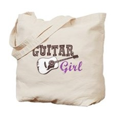 Guitar girl Tote Bag