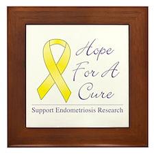 Hope For A Cure Framed Tile