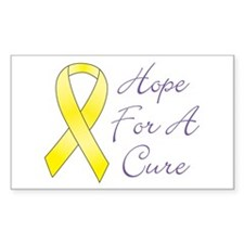 Hope For A Cure Rectangle Decal
