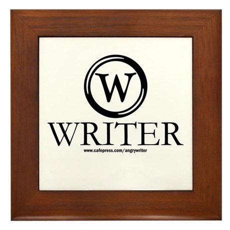 Writer (Typewriter Key) Framed Tile
