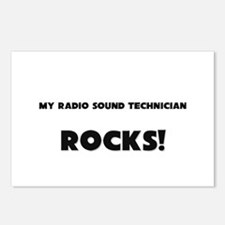 MY Radio Sound Technician ROCKS! Postcards (Packag