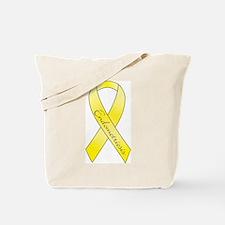 Endometriosis Ribbon Tote Bag