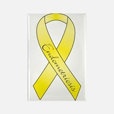 Endometriosis Ribbon Rectangle Magnet