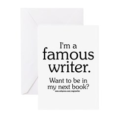 Famous Writer Greeting Cards (Pk of 10)