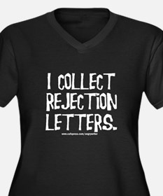 Rejection Letters Women's Plus Size V-Neck Dark T-