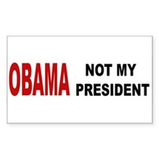 Obama Not My President Rectangle Decal